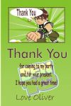 Personalised Ben 10 Thank You Cards